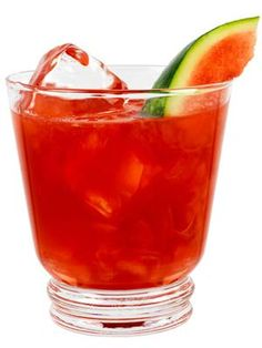 Ruby Red Breeze ~   1½ oz. Effen Cucumber Vodka  4 watermelon pieces cut in 1½ inch chunks  ½ oz. lemon juice  ¾ oz. simple syrup  ½ oz. Campari  Garnish: watermelon wedge