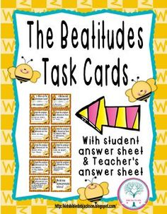 Bible Fun For Kids: The Beatitudes: Interactive Bulletin Board & More!