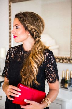 7 Romantic Hairstyles to Try This Fall: Side Dutch Braid Ponytail