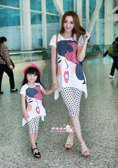 Summer family clothing sets boy girl clothing kids clothes for mother and daughter son Leisure set clothes 100% cotton