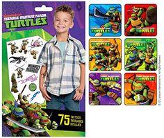 Teenage Mutant Ninja Turtle Stickers Tattoos Party Supply Favor Pack of 90 Stickers with 75 Temporary Kids Tattoos Nickelodeon http://www.amazon.com/dp/B00N2AVE3W/ref=cm_sw_r_pi_dp_g9erub0JGREKM