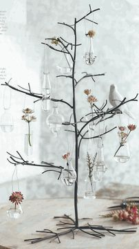 Roost's Mini Glass Vases & Branchy Tree *NEW* 2012