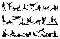 Female Fitness Silhouettes PSD