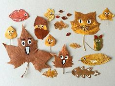"""""""Fall"""" In Love with These Quirky Leaf Friends (Handmade Charlotte) Autumn Crafts, Fall Crafts For Kids, Nature Crafts, Toddler Crafts, Diy For Kids, Kids Crafts, Diy And Crafts, Arts And Crafts, Paper Crafts"""