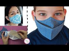 Clear Face Mask, Easy Face Masks, Homemade Face Masks, Diy Face Mask, Sewing Patterns Free, Free Sewing, Sewing Hacks, Sewing Tutorials, Mascara 3d