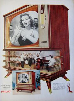 1957 Philco Miss America Console Television Vintage Advertisement by RelicEclectic, $8.00
