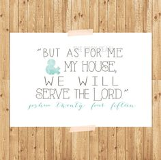 SERVE THE LORD digital download