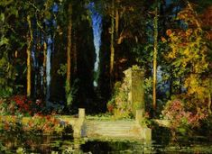 The Athenaeum - The Enchanted Garden (Thomas Edwin Mostyn - No dates listed)