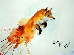 My Work .. ( Fox .. ) by PlainWhite-92.deviantart.com on @deviantART