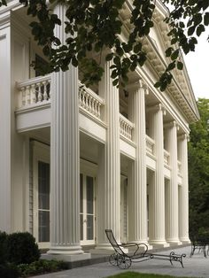 Dell Mitchell Architects, of Boston,  Classical Over 5,000 SF, for a Greek Revival residence in Dedham, Mass. (Richard Mandelkorn Photography)