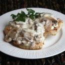 Pork Cutlets with Creamy Mushroom and Caramelized Shallot Sauce | Recipe Girl