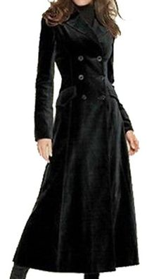 Black Chinese Style Gothic Long Coat for Women - Devilnight.co.uk