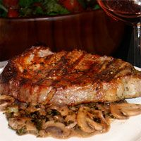 A well-seasoned sauce made with mushrooms and Cabernet Sauvignon enhances a good steak.
