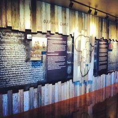 Inspiring missions wall at Watermark Church, Dallas, TX