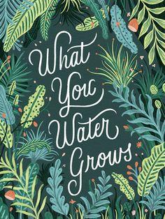 Likes, 45 Comments - Lauren Hom Lauren Hom, Plants Quotes, Garden Quotes, Flower Quotes, Typography Letters, Lettering Design, Typo Design, Quote Design, Graphic Design