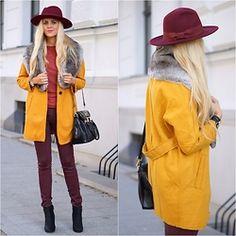 Estelle Fashion - Reserved Hat, Romwe płaszcz, spodnie, Stylowagalanteria Reserved torba, Papilion Obuwie - Spójrz na dzień