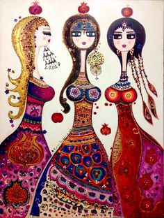 I am obsessed with this artist- Canaan Berber Arte Tribal, Turkish Art, Naive Art, Whimsical Art, Art Forms, New Art, Sculpture Art, Folk Art, Watercolor Paintings