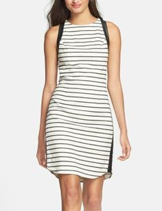 Keeping it simple and fun with a sleeveless stripe dress | Jessica Simpson