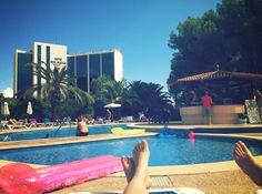 At the pool, Sol Lunamar