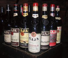 I wonder how much this collection of Gaja wines is worth?!