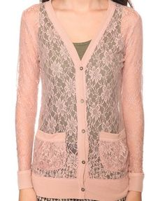 Nude Lace Cardigan - Forever 21 - $14.50