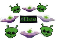 Aliens aliens everywhere! Bright green body's with no hair. See their spaceships in the air? Don't worry they're not mean, they're here to help you clean! Super adorable single use soaps with alien heads and spaceships. Perfect! $7.00