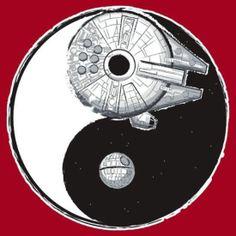 Ying yang and starwars. My two fav things put in one. Star Wars Tattoo, Tatoo Star, Starwars, Star Wars Karikatur, Yin Yang, Star Wars Art, Star Trek, Amour Star Wars, Images Star Wars