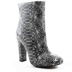 "Very Volatile ""Stockholm"" boot..  nwt Take a walk on the wild side in the Stockholm dress bootie from Volatile. Snakeskin winds its way into this season's hottest trends and this stunning ankle boot represents in the best way. Snakeskin-embossed faux leather upper Inside zipper 4"" covered heel Synthetic sole Imported  I have these in size.. 5 1/2...    1 left 7...           2 left 8...           1 left Shoes"