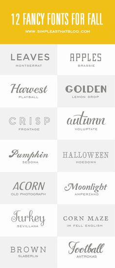 14 Fancy Fonts for Fall // Simple as That Blog @rebeccacooper