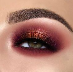 Eye Makeup Designs, Eye Makeup Art, Cute Makeup, Eyeshadow Makeup, Makeup Inspo, Makeup Inspiration, Makeup Tips, Beauty Makeup, Copper Eye Makeup