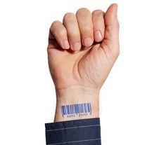 barcode on human hand 43 Inspiring Wrist Tattoos and Graphics New Tattoos, Hand Tattoos, Girl Tattoos, Barcode Tattoo, Wrist Tattoos For Guys, Tattoo Models, Tattoo Designs Men, Body Art, How To Memorize Things