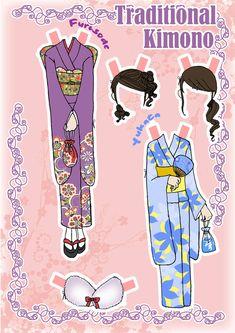 Kimono Paper doll Clothes 2 by ~j-nury on deviantART