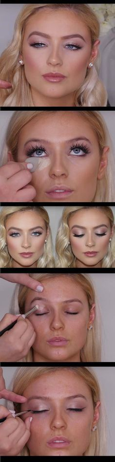 Wedding Makeup Ideas for Brides - Soft Bridal Makeup - Romantic make up ideas for the wedding - Natural and Airbrush techniques that look great with blue, green and brown eyes - rusti evening glow looks - https://www.thegoddess.com/wedding-makeup-for-brides #AirbrushMakeuptips&tricks