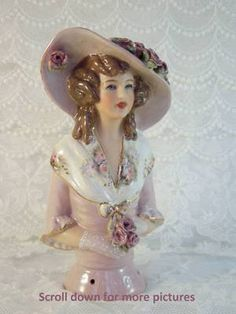 Porcelain Half Doll Pincushion Angelique | eBay