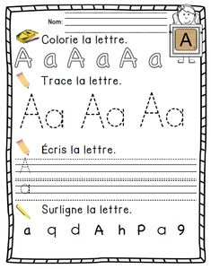 French Alphabet activity book/ Cahier d'apprentissage de l'alphabetTap the link to check out great fidgets and sensory toys. Check back often for sales and new items. Happy Hands make Happy People! French Alphabet, Alphabet Writing, Teaching French, French Teaching Resources, Teaching Activities, Alphabet Activities, French For Beginners, French Education, French School