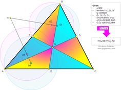 Geometry Problem 842 about Triangle, Medians, Centroid, Four Circumcenters, Perpendicular, Congruence, Similarity. Teaching, High School, College, Math Education.