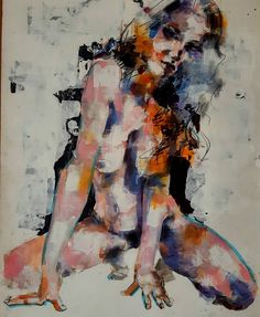 Crouching female figure study in mixed media using expressive marks and gestures. #fineart #drawings #illustration #fashion #figurestudy #thebody #nude #contemporaryart #expressive #creative #inspiration #instaart #artoftheday #art #picoftheday http://ift.tt/2es9akz