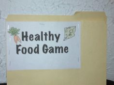 H is for Healthy Food: Thinking Outside the Game
