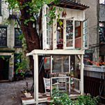 a treehouse grows in brooklyn...I want a creative studio treehouse one day!