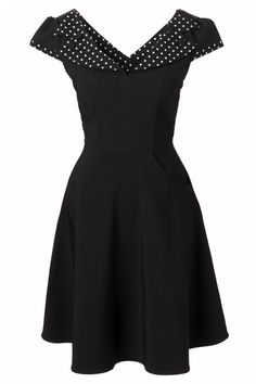 Topvinage.nl - Bunny - 50s Evie swing dress in black white polka dot  Fantastic dress