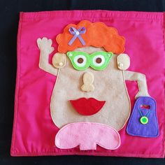 Mr & Mrs Potato head toy is perfect for traveling! Has velcro to hold pieces in place. Potato Heads, Mr Mrs, Handmade Toys, Lunch Box, Potatoes, Amp, Potato