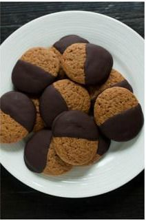 Chocolate-Dipped Gingerbread Cookies