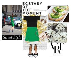 """nº 57: Green Skirt"" by ss-080 ❤ liked on Polyvore featuring Isa Arfen, Michael Kors, Givenchy, Hedi Slimane, Gucci, DANNIJO and Mykita"