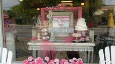 This was one of the window displays for my favorite cupcake place in Indy. The Flying Cupcake is the best!
