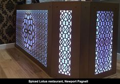 Architectural laser cut screens for hotels, bars and restaurants and any architectural interior We create beautiful interiors and architecturally innovative spaces. Laser Cut Screens, Laser Cut Panels, Beautiful Interiors, Metal Wall Art, Spice Lounge, Laser Cutting, Restaurants, Custom Design, Royal Design