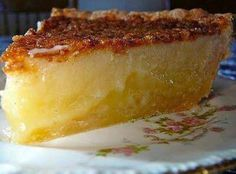 Best Southern Pie Recipe. One comment said that they use cream instead of buttermilk and it's called a Chess Pie.