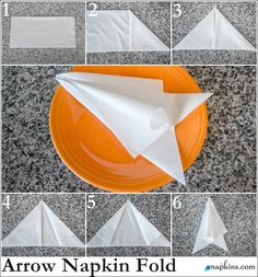 How To: Arrow Napkin Fold