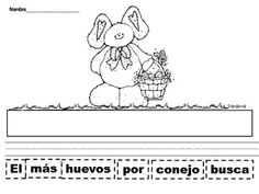 Easter Cut and Paste Sentences in Spanish
