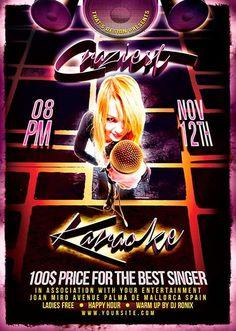 Karaoke Flyer  Karaoke Flyer Template And Template