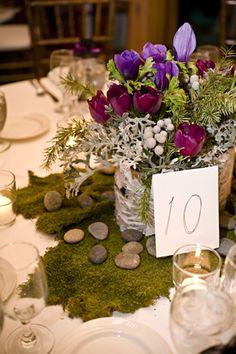 #moss #wedding #centerpiece